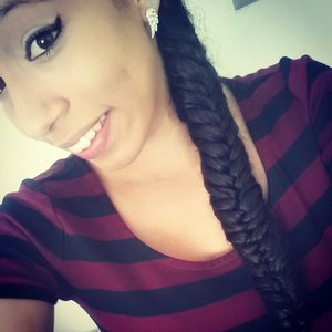 My first attempt at a fish tail braid :-)