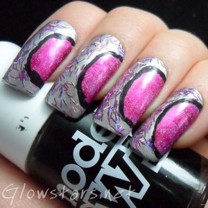To find out more about this mani visit http://glowstars.net/lacquer-obsession/2012/10/miss-conduct-be-brave