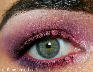 A Pink and Purple NYX look