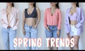 2020 Spring Fashion Trends| Pastels, Tie-Dye, Cardigans, bras and more