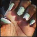 Mint choco chip nails