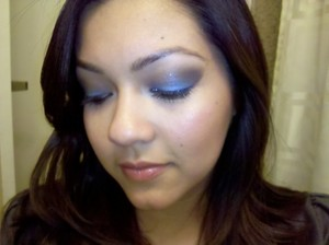 Inglot Blue and MAC Ground Brown