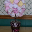Wash cloth and baby hat topiary tree
