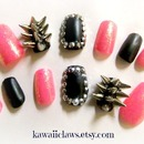 Hot pink and black spikes