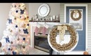 $500 COLLAB GIVEAWAY! ~ DIY Burlap Wreath & Christmas Decorating Tour | Charmaine Manansala