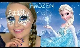 Disney Frozen: ELSA SNOWFLAKE MASK Makeup Tutorial