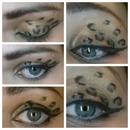 leopard print eyes