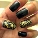 ღ Black with Gold Flakes ღ