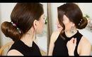 Elegant Holiday Bun Updo & DIY Bun Bracelet