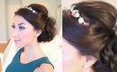 Glam Holiday Side Updo