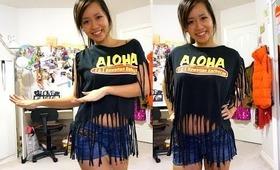 Fringe Crop Top Tutorial - Salina x L&L Hawaiian BBQ