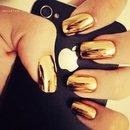 Gold metal nail polish✨💛