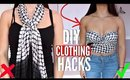 5 DIY Clothing Hacks EVERY Girl MUST KNOW! How to Upcycle OLD CLOTHES!