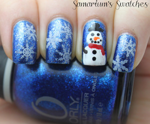 Snowflakes & Snowman Mani  http://samariums-swatches.blogspot.com/2011/12/snowflakes-snowman.html