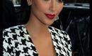Kim Kardashian Inspired Makeup Gold Eye shadow W/Red Lips