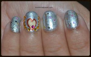 See the detail Tutorial http://lovefornailpolish.com/cool-easy-nail-design-short-nails-simple-valentine-nails