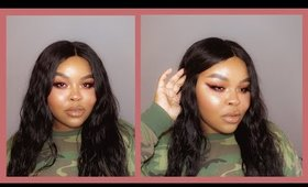 red smokey winged eyeliner + flawless foundation cruelty free makeup tutorial