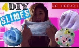 Easy DIY SLIME 2017 + Fluffy, Glitter, Basic, Googly Eyes Slimes! | Hiiyooitscat