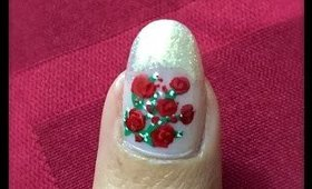 Valentine's Day Nail Art ~ Roses for Valentine's Day