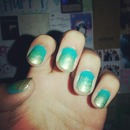 Gold 'n Teal Ombre