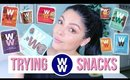 TRYING THE BEST WEIGHT WATCHERS SNACKS WW FREESTYLE  | SCCASTANEDA