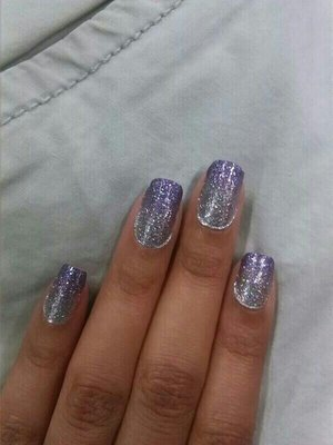 purple ombre with revlon nail strips