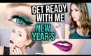 GET READY WITH ME || New Year's Eve 2 GLITTER Makeup Looks