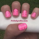My Dental Floss Nail Design!