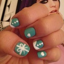 Tiffany Inspired Nail Art