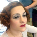 Garbo inspired wig and makeup