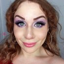Eye Widening Cool Toned Lilac Pastel Glittery Cut Crease