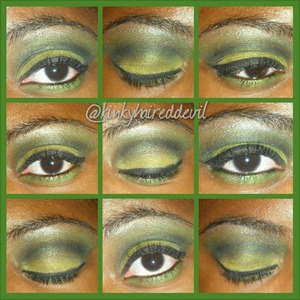 Look I created with my coastal scents 252 palette.