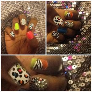 Cheetah & Zebra Print, Diamonds & Bright Colors!!! POW!!!