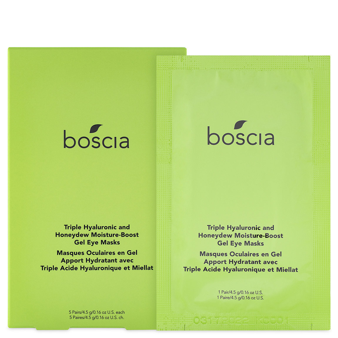 boscia Triple Hyaluronic & Honeydew Moisture-Boost Gel Eye Masks alternative view 1 - product swatch.
