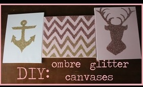 DIY: Glitter Canvases