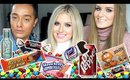 Trying American Candy! ♡ Shaaanxo, Sally Jo & Kris Fox!