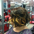 "The new ""Rachel"" haircut with ombre!"