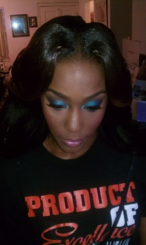 Prom makeup for my client