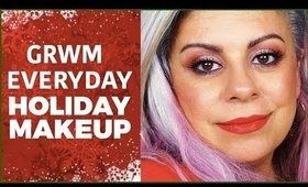 GRWM Everyday Holiday Makeup Over 40