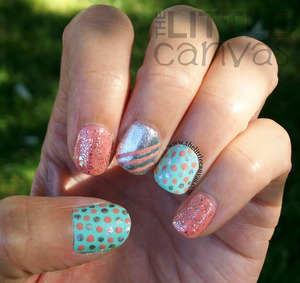 http://www.thelittlecanvas.com/2013/09/peach-and-mint-kitchen-sink-manicure.html