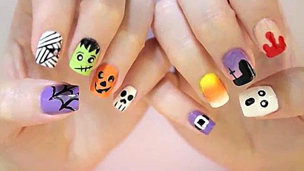 halloween nail art beautylish. Black Bedroom Furniture Sets. Home Design Ideas