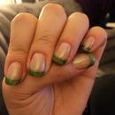Green Glitter Tips
