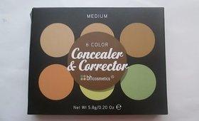 BH Cosmetics 6 Color Concealer Palette Review