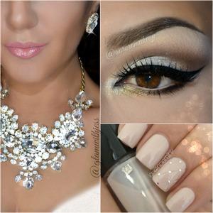 instagram @auroramakeup FB: https://www.facebook.com/AuroraAmorPorElMaquillaje  Hola bellas, asi es como luce el maquillaje completo con el collar y los aretes de http://www.glamwithjess.com/ . English version below   Recuerden chicas que yo no vendo ninguno de los productos que uso para los maquillajes, solo comparto como es que los aplico en mi  A continuacion los detalles ...feliz tarde!  En las cejas hechas con el Dip brow Pomade en color EBONY y CHOCOLATE de Anastasia Beverly Hills, disponible en http://www.anastasia.net/ ( si llegan a mexico por mexpost ) y en tiendas Sephora.  Ocupe las sombras cafe claro y hueso de la paleta SWEET ESSENTIALS de la marca Eye Kandy Cosmetics ( http://www.eyekandycosmetics.com/ ) ademas de los brillos en CONFETTI ( plata con destellos ) en el parpado movil y los HONER DROP ( dorados muy claro ) debajo de la esquina interna del ojo Tambien de la misma marca. Gel delineador negro de MICABELLA COSMETICS  Pestanas NOIR FAIRY de la marca htpp://www.houseoflashes.com ( tambien llegan a mexico )  El rubor es una tonalidad Rosa malva de la paleta de Rubores de Morphe Brushes & Cosmetics disponibles en http://www.morphebrushes.com/ ( envios internacionales )   Labios hechos con el lapiz delineador LADY PINK y el brillo labial en color PASSION de Motives Cosmetics. http://www.motivescosmetics.com/  Hi dears, this the full face look inspired in the Necklace and earrings by Glam With Jess , I'm not a model... just presenting an idea of how to make a match between the accessories and makeup  Remember gorgeous dolls I don't sell any of the products that I use ...I only love sharing the details    Brows made with Dip Brow Pomade in Ebony and Chocolate by Anastasia Beverly Hills   On my eyes I used the Sweet Essentials palette by Eye Kandy Cosmetics ( Eggnog on brow bone, Toasted Almond and Coffe Bean on the crease marking socket line ) . Silver glitter in CONFETTI on mobile eyelid and HONEY DROP below inner corner both the same brand . Gel ey