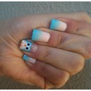 Cute Owl Nails With Ombré
