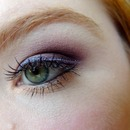 Purple eyeshadow with glitter liner