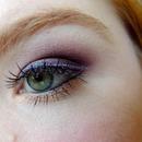 Purple eyeshadow with glitter liner