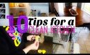 10 TIPS FOR A CLEAN KITCHEN