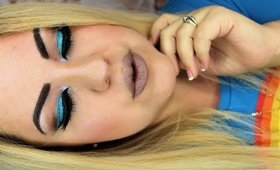 Blue Glitter Winter Eyes - Ojo Con Brillo Azules