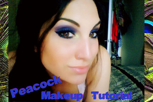 Peacock inspired makeup tutorial based on the colours found within the feathers  http://youtu.be/UXIne_0ADoM